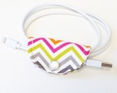 Cable Organizer Cord Holder Charging Cable Holder Cord Wrap Stocking Stuffer Cord Organizer Gift Pink Chevron