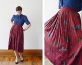 1980s English Hunting Skirt - XS/S