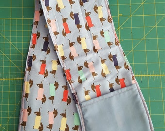 Double Oven Glove\Oven Mitt - dachshunds with sweaters motif