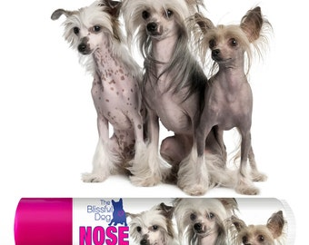 Chinese Crested ORIGINAL NOSE BUTTER® for Dry, Crusty Dog Noses and Skin Choice: One .15 oz Tube or 3-Pack .15 oz Tubes with Crested Labels