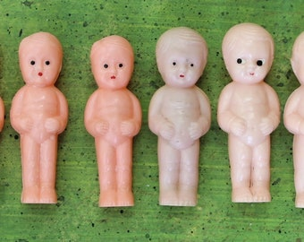 "Vintage 6 Plastic 3"" Baby Dolls Lot"