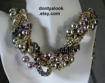 Wrapped Chains Beads and Rhinestones #22