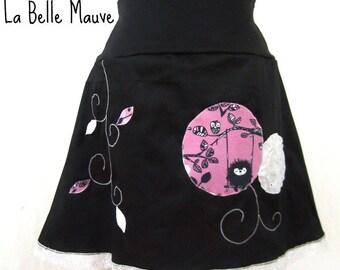 Yuki black skirt and purple lace