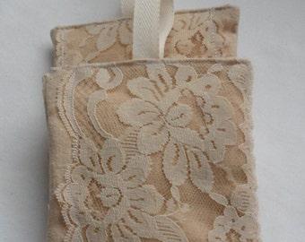 Vintage Linen N Lace Blueberry Vanilla Potpourri Filled Sachet Pillows/Handmade Sachet Pillows/Old Linen N Lace Blueberry Vanilla Sachets