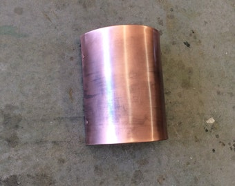 "8"" x 12"" x 5""// Round Copper Light Sconce"
