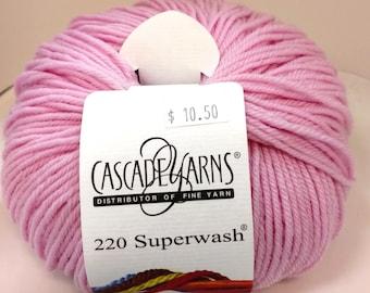 Cascade, Superwash, Wool, Worsted, Light Pink, 894