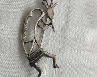 Vintage Sterling Silver Native American Kokopelli Pin