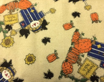 Pumpkin Patch Flannel Print 100% Cotton Fabric Flannel