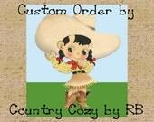 CUSTOM LISTING for Cindy Western Cowboy Cowgirl Baby Blanket Farm Print Minky