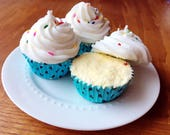 Cupcake Bath Bomb with Sugar Scrub Frosting- 15% of profits donate to Smile Train for a Limited Time.
