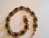 Vintage Gold and Jade Bracelet
