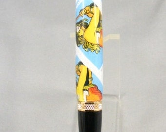 Wonder Woman Blue Postage Stamp Twist Pen