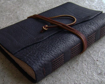 "Rustic leather Journal, 6""x 9"", old world journal, travel journal, leather sketchbook (2363)"