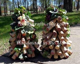 Unique Wine Cork Tree -floral alternative,  decorative tree centerpiece, table decor, ready to ship