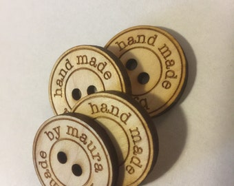 "Custom 1"" laser cut buttons, set of 4"