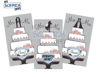 Wedding Cake Scratch Off Bridal Shower Game Card