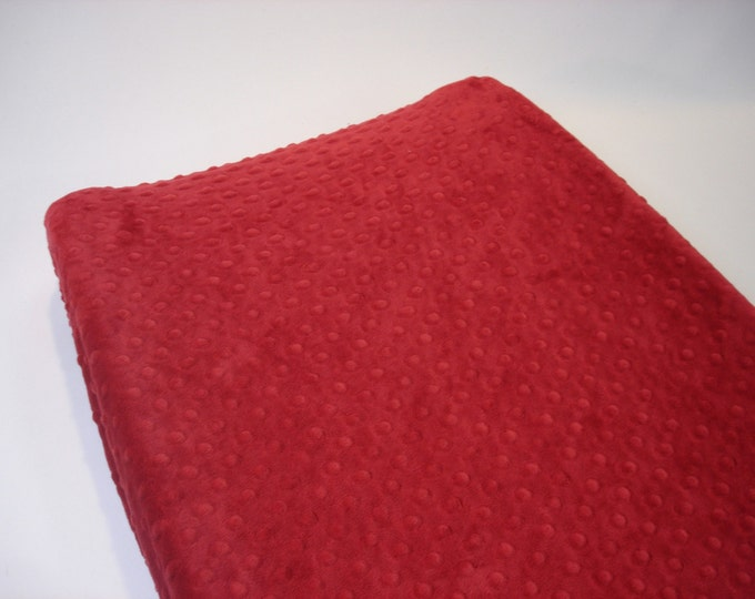 Red Changing Pad Cover Crimson