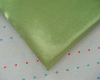 "Emerald Green Satin Lining Fabric, 60"" Wide, BTY"