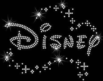 Sparkle Disney iron on rhinestone transfer bling TRANSFER