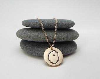 adk blue line. 14k gold fill. adk love necklace. adirondack jewelry. new york jewelry. adirondack made.