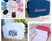 Monogram Make Up Bag | Personalized  Makeup Bag | Mothers Day Gift | Graduation Gift | Waffle Weave Cosmetic bag