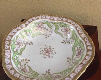 Antique hand painted Nippon footed bowl