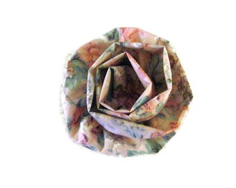 Flower Floral Brooch /Pin  Pink Cabbage Roses