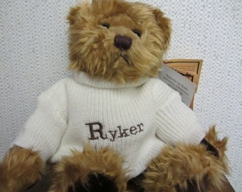 Teddy Bear Wearing Personalized Sweater