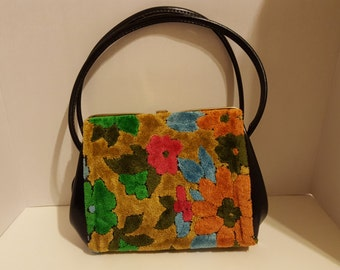 Vintage 1950's Carpet Handbag