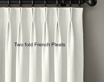 Pleated drapes made with your fabric, COM, customers own material, per panel