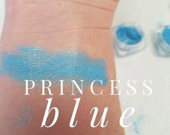 PRINCESS Blue Mineral Make up EYE Shimmer - Eye Shadow, Gift for her, Mica Powder 5ml - Light Bright Blue Shimmer, Stocking Stuffer