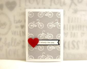 Bicycle Valentine Card, Bike Valentine Card, Punny Valentine Card, Cycling Valentine Card, Bicycle Rider Valentine Card, Hipster Valentine