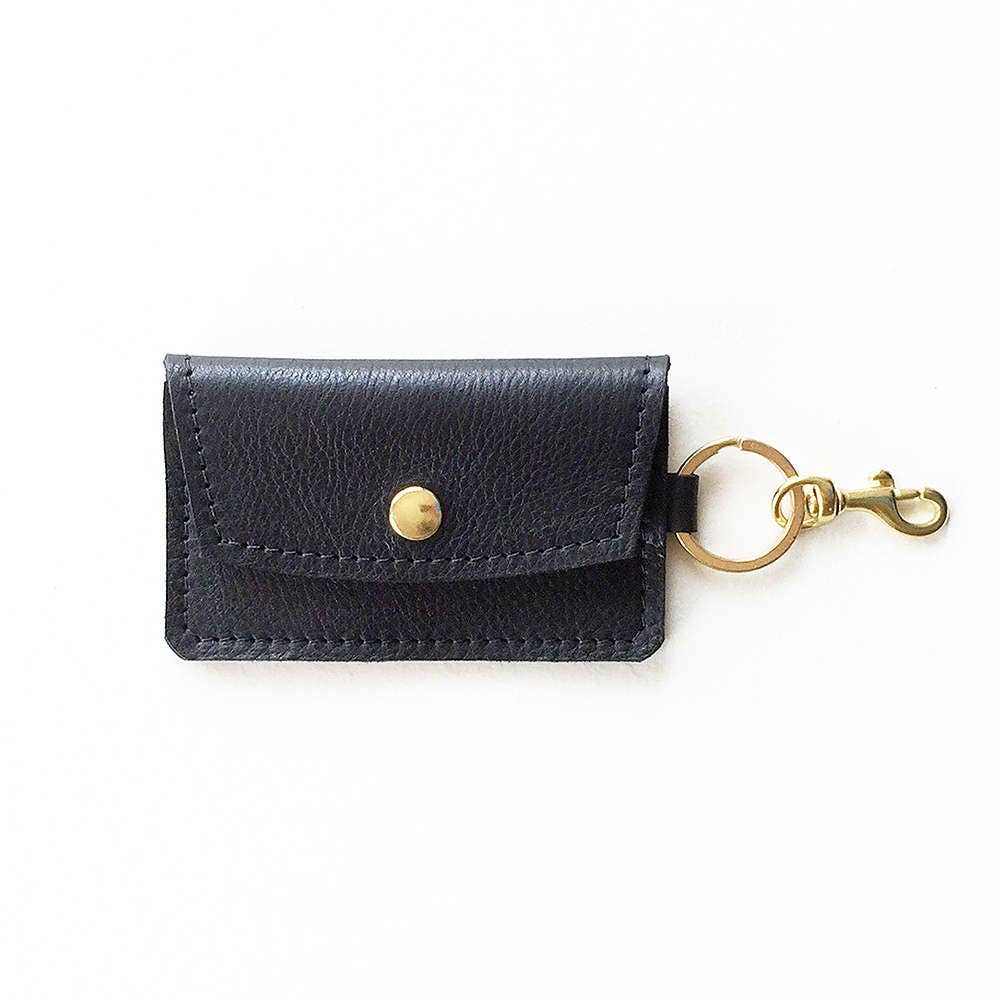 metallic leather keychain wallet leather keychain credit card