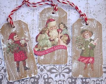 Victorian Christmas Holiday Gift Tags