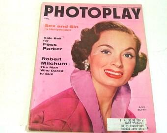 Vintage Photoplay Magazine January 1956 Ann Blyth Cover