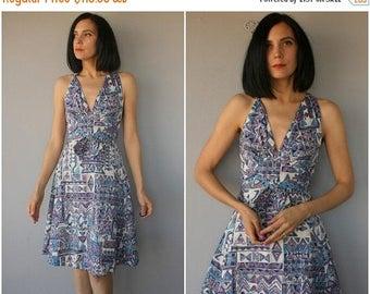 25% OFF FLASH SALE.. Vintage 1960s Dress   60s Sundress   1950s Day Dress   50s Dress   1950s Halter Dress   60s Dress   1960s Day Dress   5
