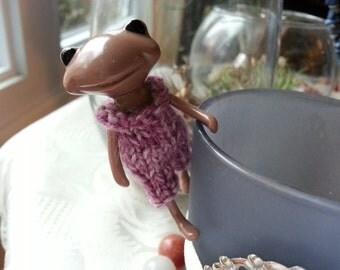 Fortune Wanda Friend Knit Romper - pink - Wanda Frog - Wonder frog