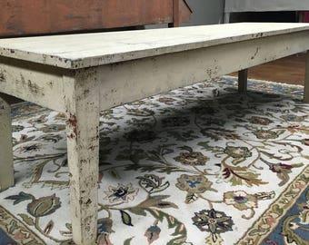 Antique Farm Crock Table Original Paint Long Low 24d81.5L22h Shipping is not free