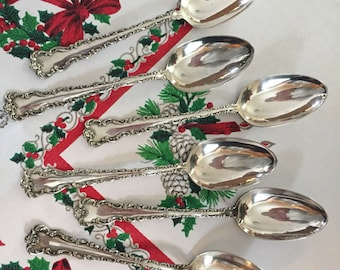 Six Large Serving Spoons ~ Stratford Silver Co ~ Dresden 1911