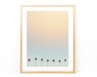 Palm Trees, Beach Photo, California, Beach, Palm Tree Photo, Large Wall Art, Photo Print, Seven Palms
