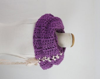 Violet   infinity  scarf , ready to ship