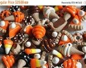 CHRISTMAS SALE 20 Assorted Food Charms, Polymer Clay