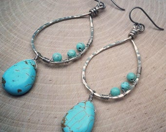 Silver and Turquoise Tranquility Earrings