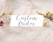 Custom order for Sheila Martin - two cascading strands (add on)