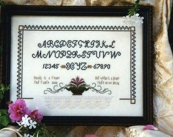 Beauty is a Flower Sampler - Chien du Bois Farms Cross Stitch Leaflet