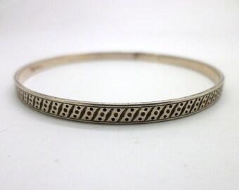 Bangle Bracelet Vintage Sterling Silver