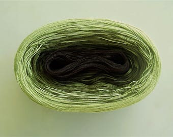 PERIDOT II  --  Color Changing Cotton yarn  480 yards/100 gr  Fingering Weight
