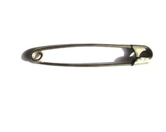 Large  Safety Pin Locker Kilt  Vintage Brooch Silver Tone Large Camp Oversized Laundry White Metal