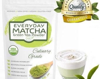 Premium Quality Everyday Matcha Green Tea Powder - USDA Organic - FREE 1-3 Day USA Shipping