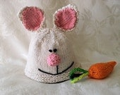 Knitted Baby Hat Knitting Knit Baby Beanie Easter Bunny Rabbit Baby Hat Baby Beanie Cotton Knitted Baby Hat Rabbit Ears Easter Baby Hat